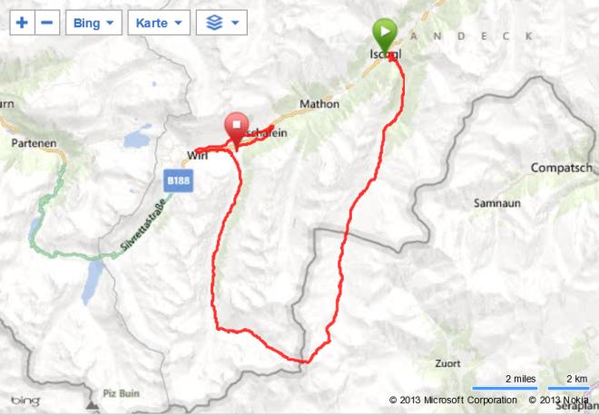 Silvrettarun 3000, Hard-Route