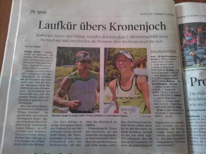 Tiroler Tageszeitung (21.07.2013)