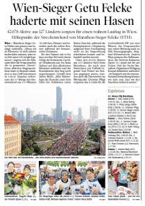 Tiroler Tageszeitung vom 14.04.2014 zum 31. VCM