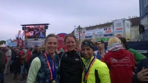 Die Siegerinnen des Vienna City Halbmarathon