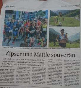 Tiroler Tageszeitung,. Sonntag 19.07.2015
