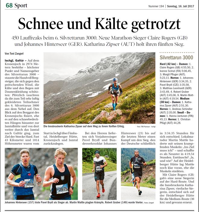 2017 Silvrettarun 3000 - Tiroler Tageszeitung